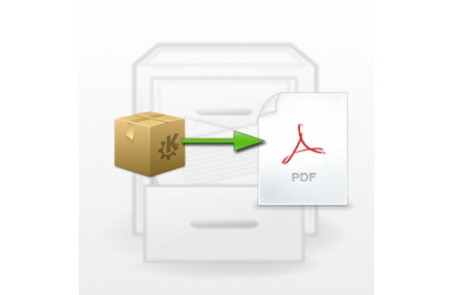 Product data export to pdf