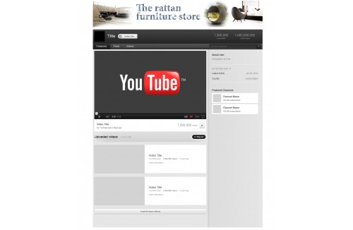 Youtube Fan page cover Design