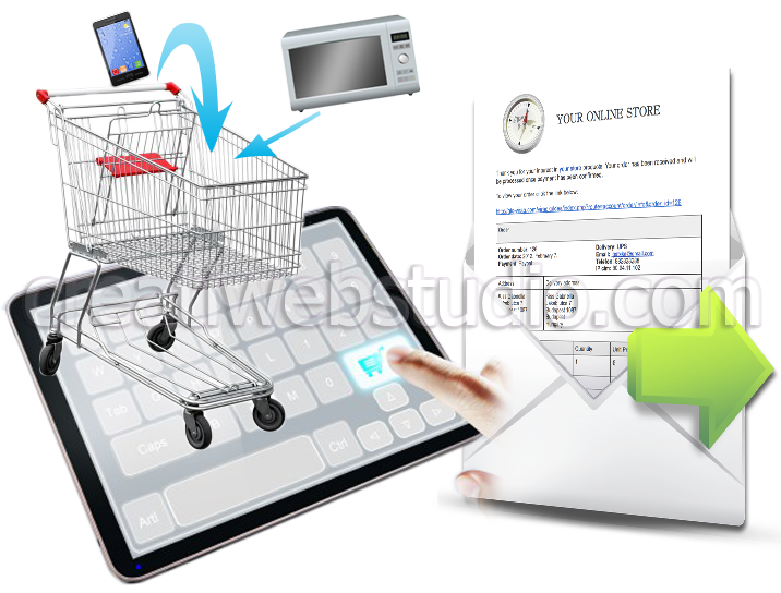We create online stores - webshop automatic email feedback - www.creatiwebstudio.com