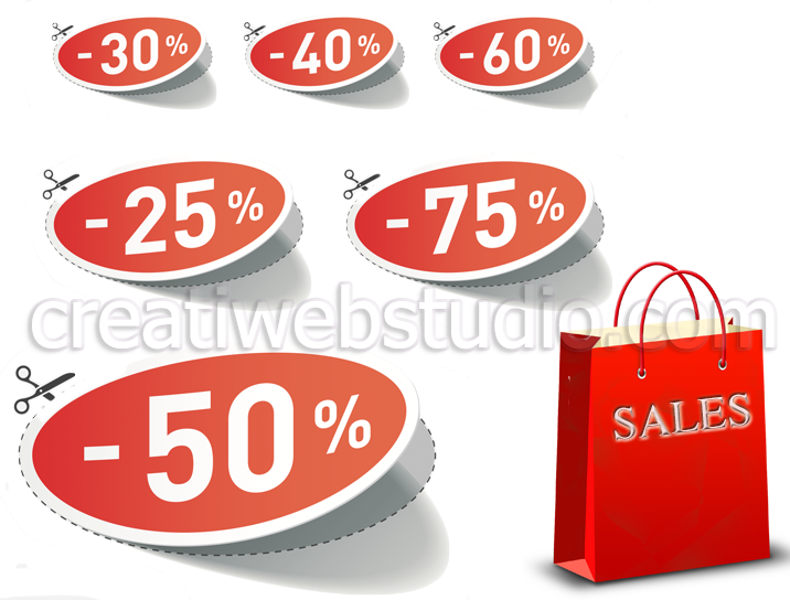 We create online stores - webshop product discount - www.creatiwebstudio.com